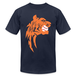 Detroit Tigers Baseball - Men's T-Shirt by American Apparel