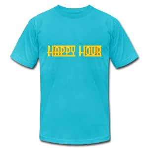 Happy Hour Mens Logo Tee - Men's T-Shirt by American Apparel