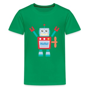cute red robot toy Kids' Shirts - Kids' Premium T-Shirt