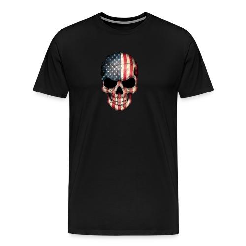 American Flag Skull - Men's Premium T-Shirt