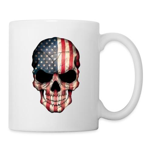 American Flag Skull - Coffee/Tea Mug