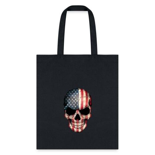 American Flag Skull - Tote Bag