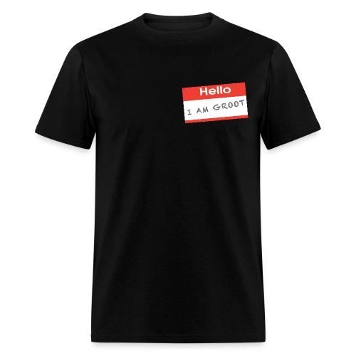 Hello I Am Groot Name Tag - Mens Shirt - Men's T-Shirt