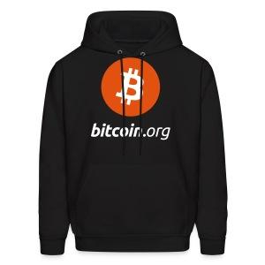 Bitcoin Small Logo Hoodie - Men's Hoodie
