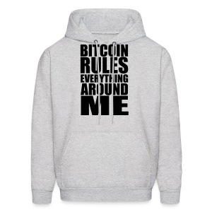 Bitcoin Rules Everything White Hoodie - Men's Hoodie