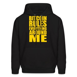 Bitcoin Rules Everything Black Hoodie - Men's Hoodie
