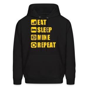 Eat Sleep Bitcoin Hoodie - Men's Hoodie