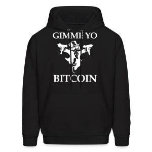 Gimme Yo Bitcoin White Hoodie - Men's Hoodie
