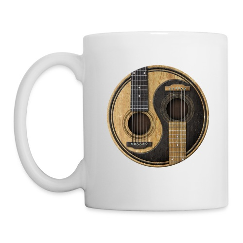 Old and Worn Acoustic Guitars Yin Yang - Coffee/Tea Mug