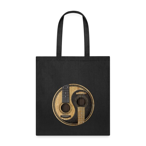 Old and Worn Acoustic Guitars Yin Yang - Tote Bag