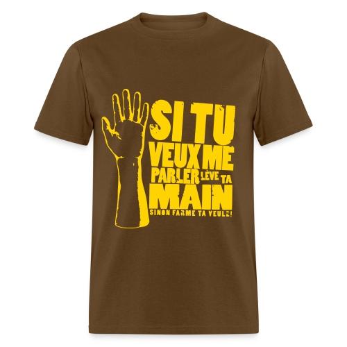 Men's T-Shirt - version impression jaune