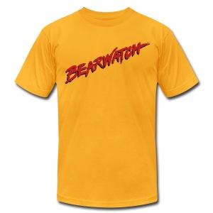 Men's Bearwatch T-Shirt (Yellow) - Men's Fine Jersey T-Shirt
