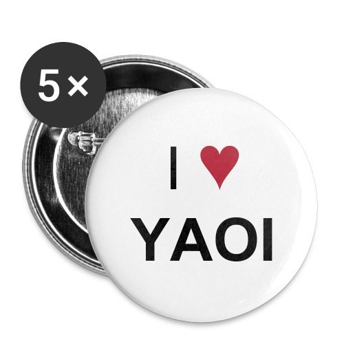 I ♥ YAOI button set - Large Buttons