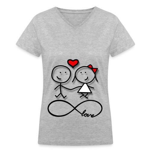 love forever - Women's V-Neck T-Shirt