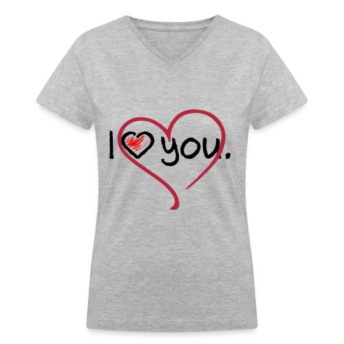 love - Women's V-Neck T-Shirt