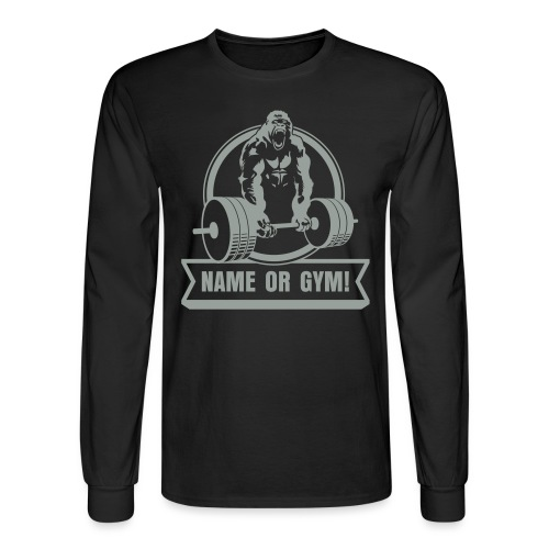 Gorilla Beast Weightlifting - Men's Long Sleeve T-Shirt