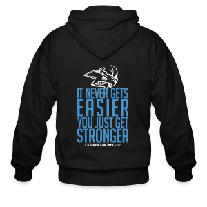 It never gets easier | Mens Zipper Hoodie - Men's Zip Hoodie