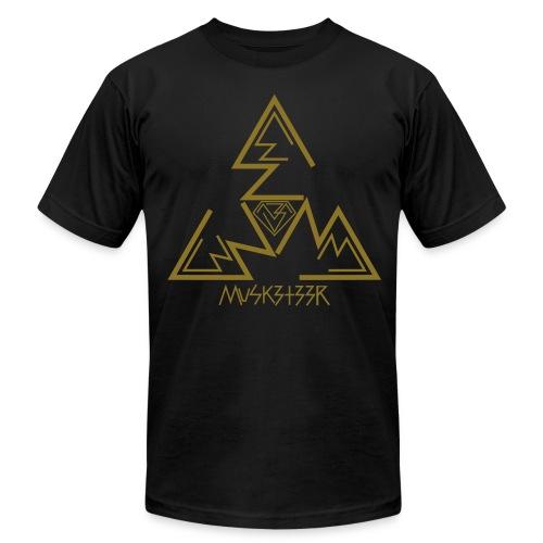 Threes (Gold Foil Print) - High Quali-Tee - Men's Fine Jersey T-Shirt