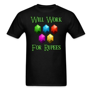 Will Work For Rupees - Men's T-Shirt
