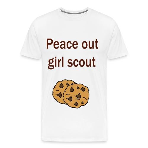 Peace out girl scout tshirt - Men's Premium T-Shirt