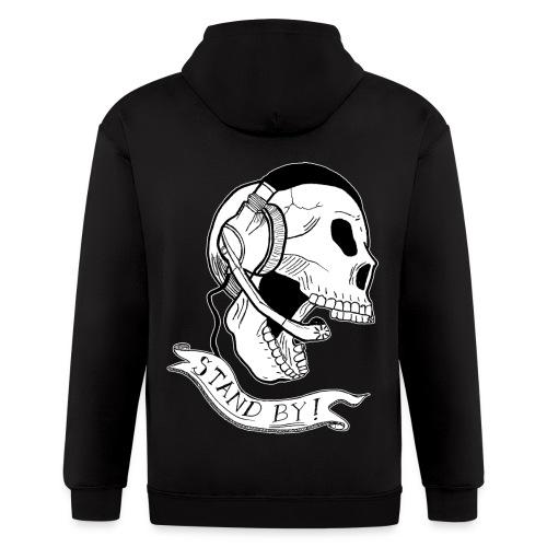 Stand By Skull Hoodie - Men's Zip Hoodie