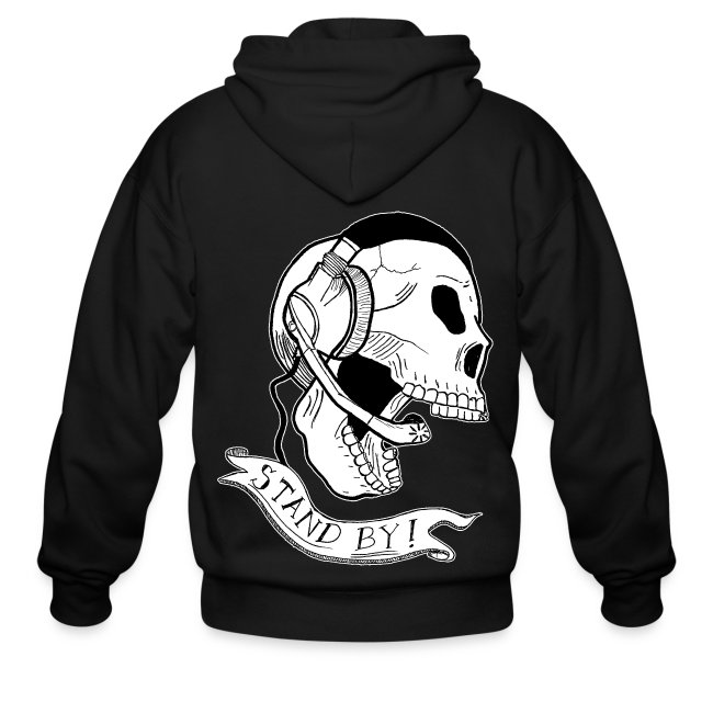 """""""Stand By"""" Skull Hoodie"""