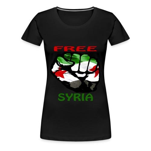 FREE SYRIA WOMEN'S SHIRT - Women's Premium T-Shirt