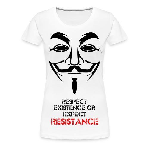 RESISTANCE WOMEN'S SHIRT - Women's Premium T-Shirt