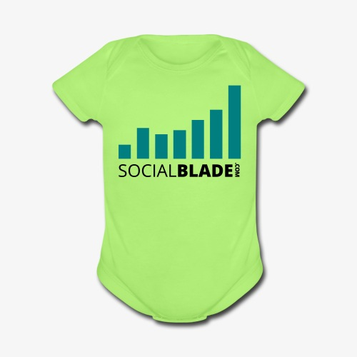 Social Blade Teal Onsie - Organic Short Sleeve Baby Bodysuit