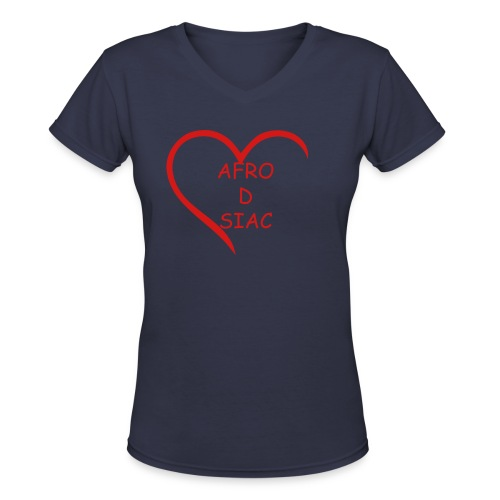 AFRO D SIAC - Women's V-Neck T-Shirt