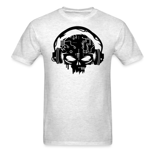 Skull With Headphones  - Men's T-Shirt