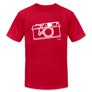 T-Shirts ~ Men's T-Shirt by American Apparel ~ Leica Red. Premium 100% cotton