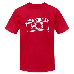 Leica Red. Premium 100% cotton - Men's T-Shirt by American Apparel