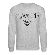 Long Sleeve Shirts ~ Men's Crewneck Sweatshirt ~ FLAWLESS - Unisex Crewneck