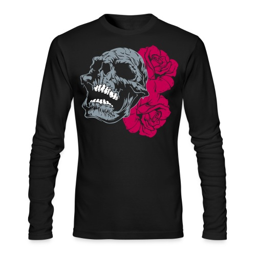 skull tattoo - Men's Long Sleeve T-Shirt by Next Level