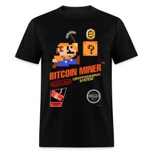 Bitcoin Miner Black T Shirt - Men's T-Shirt