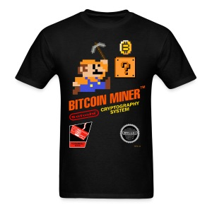 Bitcoin Miner Black T Shirt - Men's T-Shirt