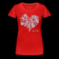 T-Shirts ~ Women's Premium T-Shirt ~ Big Bling Heart