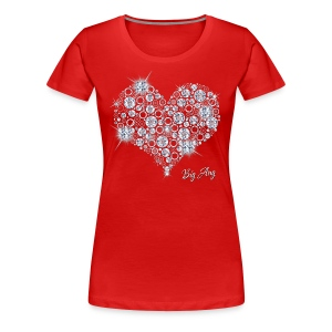 Big Bling Heart - Women's Premium T-Shirt