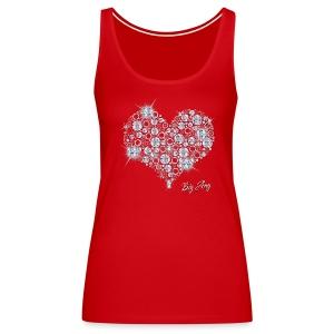 Big Bling Heart - Women's Premium Tank Top