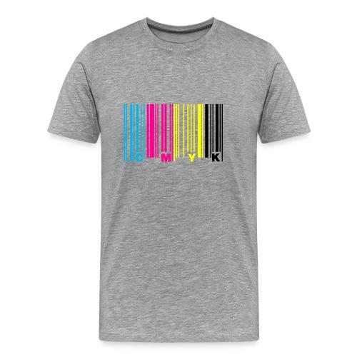 Colorful Barcode - Men's Premium T-Shirt