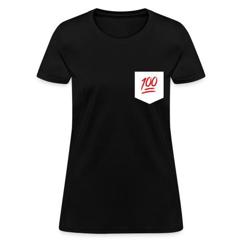 Keep it 100 Pocket Tee - Women's T-Shirt