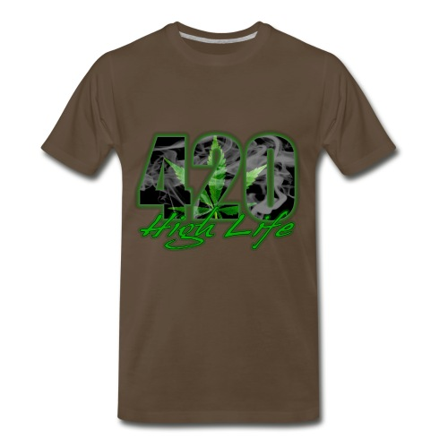 Men's Premium T-Shirt - yay,weed,political,legalize it,legalization,hemp,cannabis,bible,420