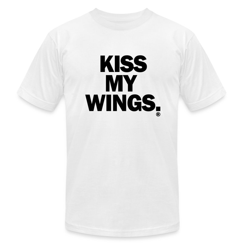 Kiss My Wings - Men's T-Shirt by American Apparel