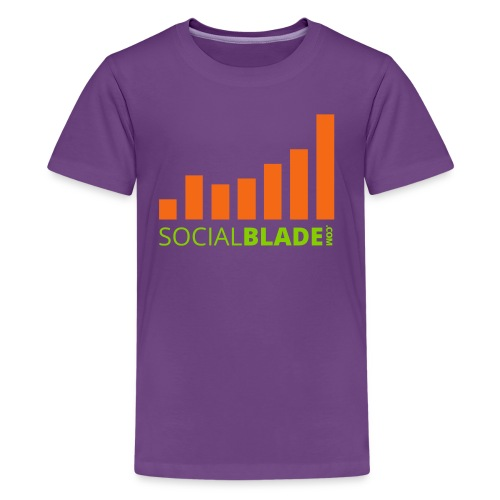 Social Blade Orange & Green Kids Premium T-Shirt - Kids' Premium T-Shirt