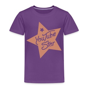 Pink Glitter YouTube Star Toddler T-Shirt - Toddler Premium T-Shirt