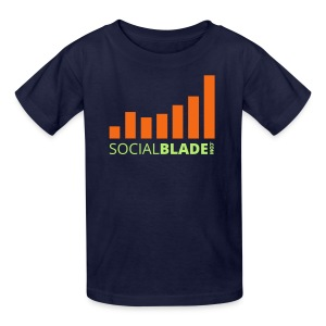 Social Blade Orange Kids T-Shirt - Kids' T-Shirt