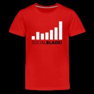 Kids' Shirts ~ Kids' Premium T-Shirt ~ Social Blade Red Kids Premium T-Shirt