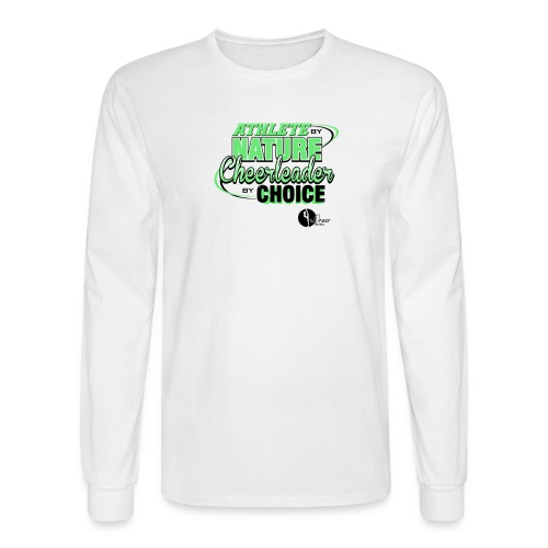 Athlete by Nature, Cheerleader by Choice - Men's Long Sleeve T-Shirt