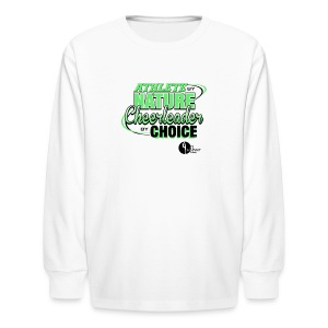 Athlete by Nature, Cheerleader by Choice - Kids' Long Sleeve T-Shirt